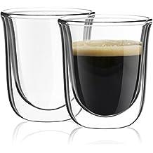 Vasos de café expreso de doble pared Javaah, juego de 2 tazas Nespresso de 56