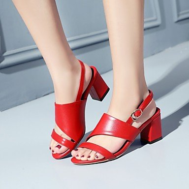 LvYuan sandali delle donne della molla scarpe club estivo fustigano ufficio&partito carriera&sera Red