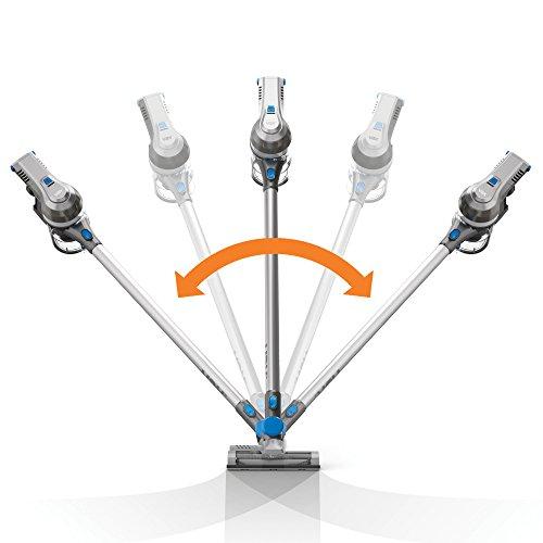 41uxD%2B90z L. SS500  - Vax Cordless SlimVac Vacuum Cleaner, 0.6 Litre, 18 V, 130 W, Silver/Blue