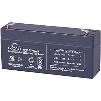 Leoch LP6-3.2 6V 3.2Ah Sealed Batterie