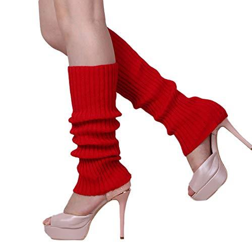 DAY.LIN Femmes Dédouanement Hiver Chaussettes Chaudes Crochet Leggings Botte de Chaussettes Sur le Genou Bas de Laine Adulte Ensembles de Jambe Unisexe Guêtres