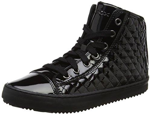 Geox j kalispera f, sneaker a collo alto bambina, nero (black), 35 eu