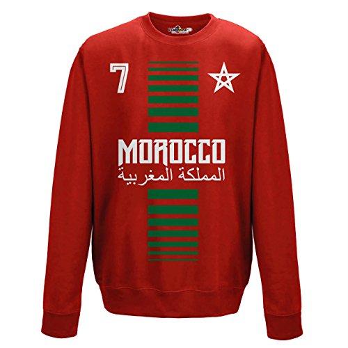 KiarenzaFD Crewneck Pullover Sweatshirt Manner National Sport Marocco Marokko 7 Fussball Sport Afrika Stella 1