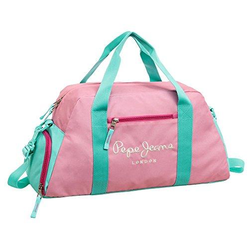 Pepe Jeans Bicolor Bolsa de Viaje, 36.3 Litros, Color Rosa