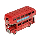 Metal Double-deck Red London Bus Model Diecasts Handmade Crafts Kids Toys