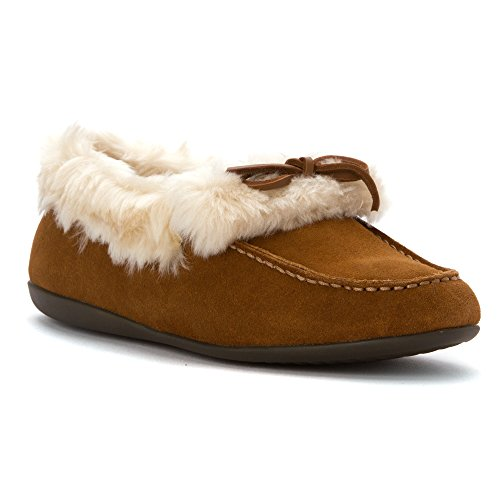 Vionic Womens 366 Juniper Cozy Suede Shoes châtaigne