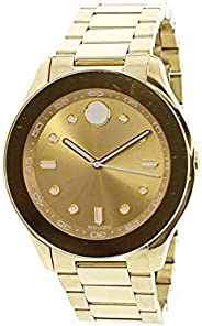 Movado Womens Quartz Watch, Analog Display and Stainless Steel Strap 3600416