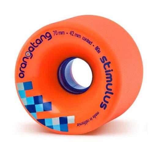 Orangatang Longboard-Räder, 70 mm - Stimulus, 4 Stück Orange orange -