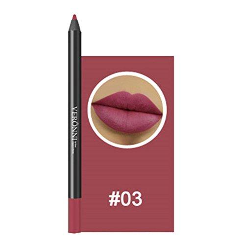 Lippenkonturenstift, GreatestPAK 13 Farben professionelle Lipliner Make-up wasserdicht Bleistift (03#)