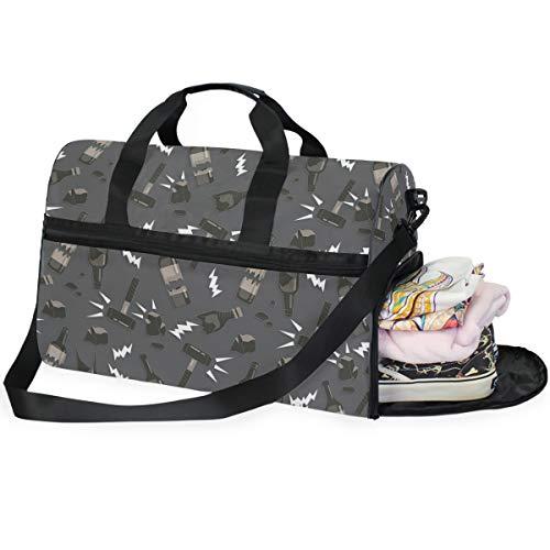 LUPINZ Broken Bottle Pattern Große Kapazität Reisetasche Sport Duffels Gym Bag Fitness Sport Gear Gepäck Tasche für Damen und Herren -