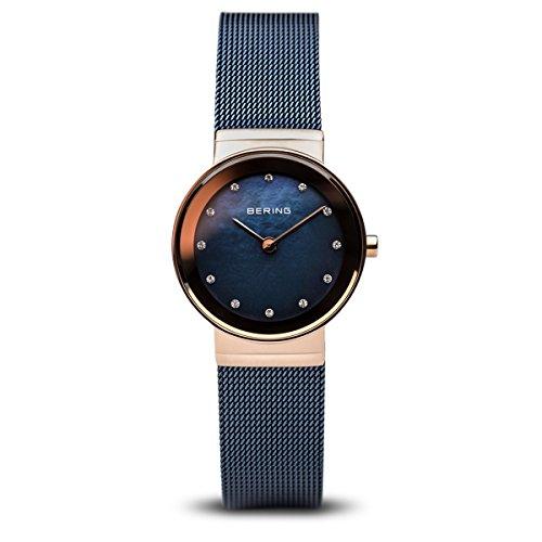 BERING Damen-Armbanduhr Analog Quarz Edelstahl 10126-367