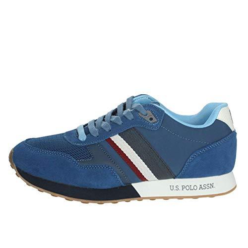 Sneaker Running US Polo Uomo MOD. Julius Suede/Tessuto Mesh Colore Avio US19UP02