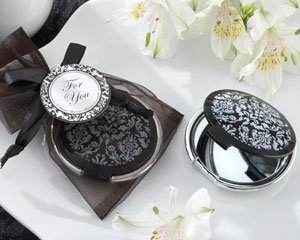 Kateaspen Miroir Compact élégant Reflections Noir et Blanc - Lot de 50