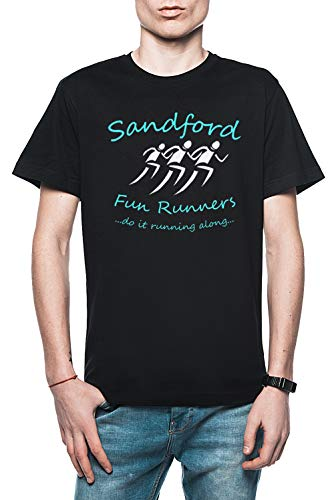 Sandford Fun Run Herren T-Shirt Schwarz Größe L - Men's T-Shirt Black - Fuzz-t-shirt Hot