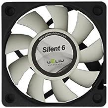 Gelid Silent 6 - Ventilador (60 x 60 x 15,5 mm, cojinetes hidrodinámicos, 12 V, 3200 rpm, 24 dBA, Molex CE RoHS de 3 pines)