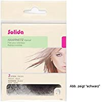 Solida Haarnetz dunkelbraun, 1er Pack, (1x 3 Stück)