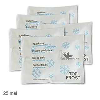 KK Kälte-Sofort-Kompresse 25er Pack Eispack Eiskompresse Kältekompresse Kühlkompresse 14 x 18 cm (25 Stück)