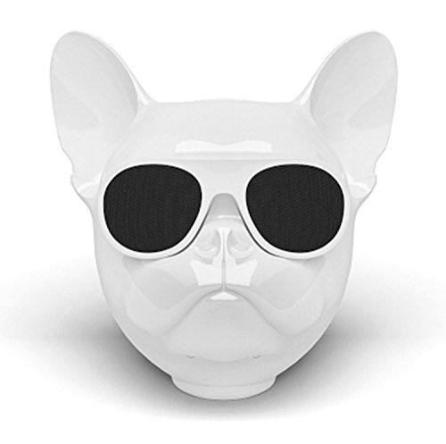 Enceinte Bluetooth portable En forme de tête de chien bouledogue français Bluetooth 4.2 Son hi-fi stéréo Protection contre les éclaboussures Microphone intégré Manuel (langue française non garantie)