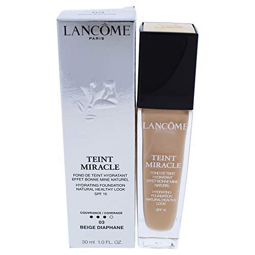 Lancome Beige Foundation (Lancôme Teint Miracle Bare skin Foundation SPF15, 03 Beige Diaphane, 1er Pack (1 x 30 ml))