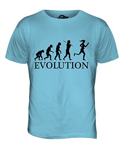 CandyMix Paralympischen Läufer Evolution Des Menschen Herren T Shirt  Himmelblau