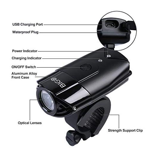 BIGO Luce Anteriore USB Ricaricabile