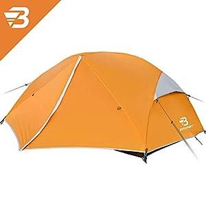 Bessport Zelt 3 Personen Camping Zelt, 2 Türen Ultraleicht Zelte Winddicht &Wasserdicht, 3-4 Saison, Kuppelzelt…