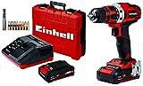 Einhell 4513910 TE- CD 18/40 Li (2 x 2,0 Ah) Akku-Bohrschrauber, schwarz, rot
