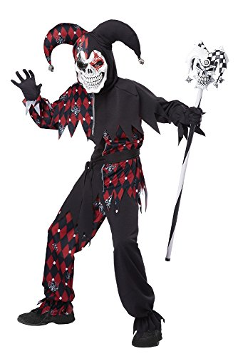 Sinister Jester Child Costume size Medium - Kindes Sinister Jester Kostüm
