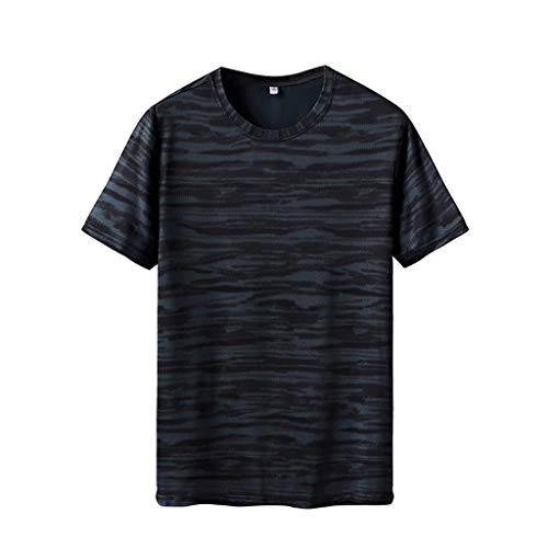 Herren Sommer T-Shirts Mode Basic T-Shirts Männer Kurzarm Basic Sweatshirt Slim Fit Tee Fitness Bluse T Shirts Männer Männer Top Slim Fit Herren Bluse Sport Freizeit T-Shirts ()