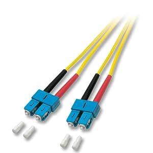 Lindy 46122 Câble Fibre optique Duplex SC/SC 9/125 m Monomode 3 m Jaune