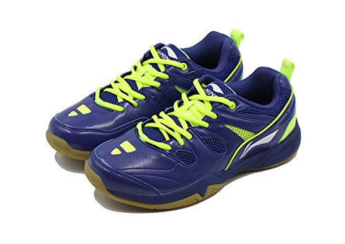 Li Ning Alpha Badminton Sports Shoes, Navy/Lime