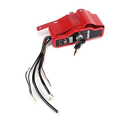 Zündschlosskasten, elektrischer Zündschloss und 2 Tasten für Honda GX340 GX390 11TE 13TE Zubehör für Rasenmäher Elektrischer Zündschloss