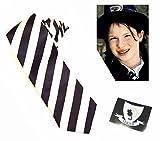 Picture Of World Book Day Worst Witch Vinyl Strive Badge Sticker & 130cm Black & White Striped Tie