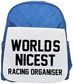 WORLDS NICEST Racing Organiser printed kid's Bleu  backpack, Cute backpacks, cute small backpacks, cute Noir  backpack, cool Noir  backpack, fashion backpacks, large fashion backpacks, Noir  fashion ba | Une Forte Résistance à La Chaleur Et Résistant à L'