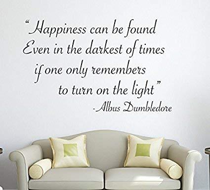 Lovely Decals World Harry Potter Happiness Finden Sie. Albus Dumbledore Wand Aufkleber Zitat Aufkleber Art Decor Vinyl (Dumbledore-zitat-aufkleber)