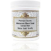 Auténtico Jabón Negro Marroquí Puro 500g Jabón Beldi Exfoliante y Hidratante Enriquecido con aceite de Argán