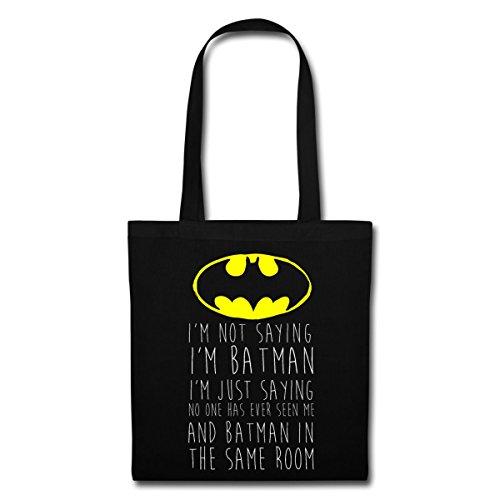 DC Comics I'm Batman Lustiger Spruch Stoffbeutel von Spreadshirt® Schwarz