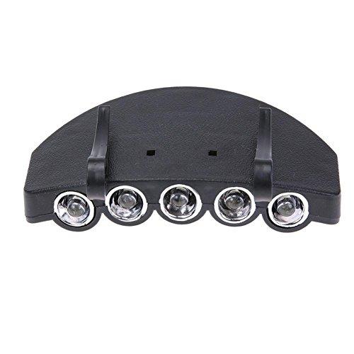 Imagen de starnearby 5 led batería power head capucha gorro clip luz lámpara para caza pesca