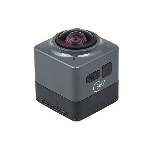 topjoy Cube 360 Action Video Kamera Wifi H.264 360 Grad Panorama Kamera 360 x 190 Großer Panorama 360 Objektiv Action Kamera mini Auto DVR schwarz schwarz Image Stabilized Zoom