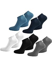 normani 15 Paar Sneakersocken aus Baumwolle mit Elasthan für Sie und Ihn - Größen 35-50 - Viele trendige Farben