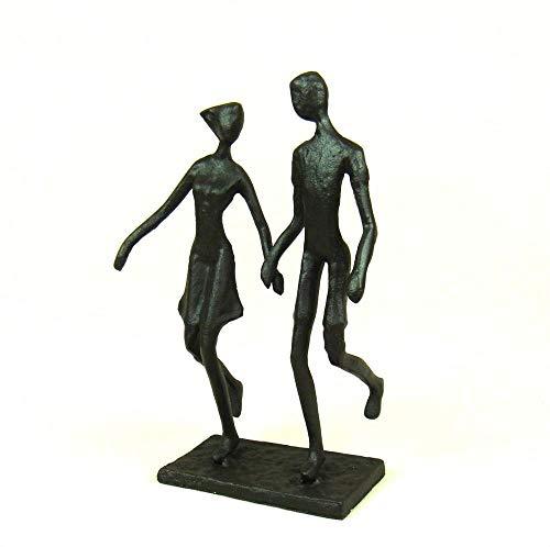 DAJIADS Figur Figuren Statue Statuen Statuette Bügeleisen Süß Liebhaber Figur Abstrakte Metall Paar Skulptur Honig Dekor Geschenk Craft Ornament Für Hochzeit Und Valentinstag Cast -
