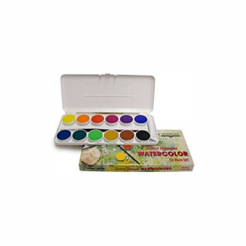 nt Watercolor Paint, Set of 12 Pans by Grumbacher ()