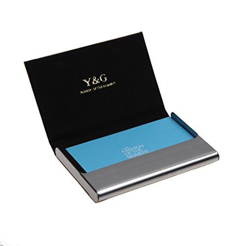 YDC05 Bester Visitenkarte-Halter-Leder-Karten-Kasten Ausgezeichneter Designer durch Y&G YDC05A13-Braun