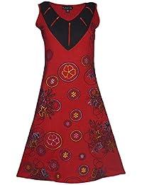 Robe sans manches Ladies avec imprimé floral et la broderie