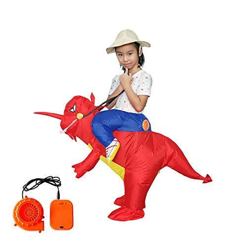 Trex Blow Up Kostüm Kind - Neckip Dinosaurier aufblasbares Kostüm T-Rex Kostüm Halloween Blow Up Kostüme Erwachsene/Kinder