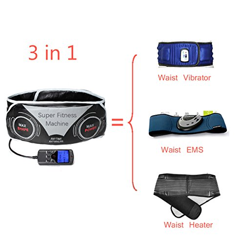 Xcellent Global Professional Unisex Massage Belt Abdominal Toning Body Trimming Exercise Belts Fitness Multifunction Adjustable Electronic Waist With 3 Modes Slimming Weight Loss M-HG083
