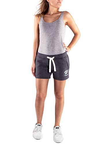 WOLDO Athletic Damen Sweatshorts Trainingshose Shorts Kurze Hose Sport Fitness Gym Freizeit (M, Dunkelgrau)