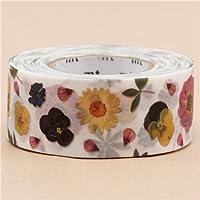 nastro adesivo decorativo largo mt Washi fiori colorato