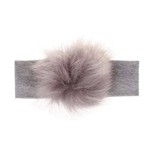 VIccoo Waschbär Faux Pompoms Baby Stirnband Baumwolle Kinder Mädchen Elastische Haarbänder Turban Für Mädchen Kleinkind Stirnbänder