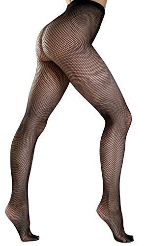 Schompi Classic Tights - Fishnetz Strumpfhose Schwarz, Größe:Einheitsgröße